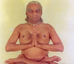 padmasana_guruji in pose