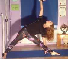 Trikonasana or Triangle pose